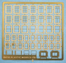 310 Domestic Windows Etched Brass (N Gauge)