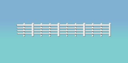 424 RATIO Lineside Fencing White