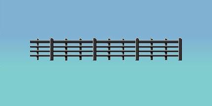 425 RATIO Wood Lineside Fencing Black
