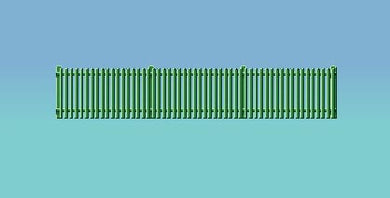 431 Picket Fencing Green