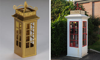 S24 Shire Scenes Early Telephone Kiosk - etched brass