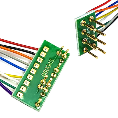 DA3 21-Pin to 8-Pin Decoder Sapphire Adaptor Board (Wired DCC Harness with NEM652 8-Pin Plug)