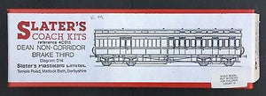 Slaters 4C015 Dean Brake 3rd Clerestory non Corridor bogie Coach kit