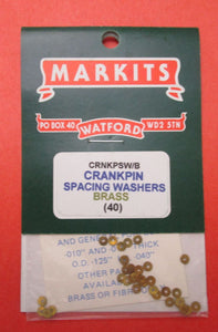 MCRNKPSW/B Spacing Washers for Crankpins Brass .010in and .015in OD .125in ID .040in Pack of 40