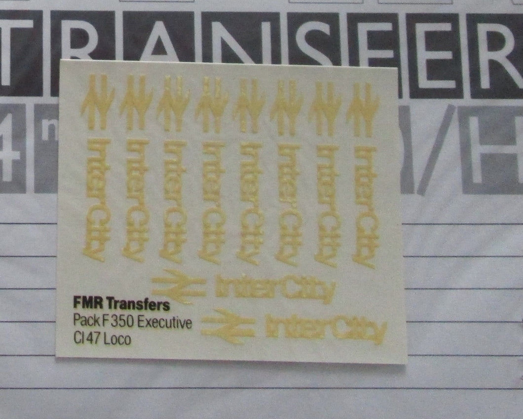 F350 FMR Transfers Inter City Executive Livery: Class 47 loco logos & double arrows