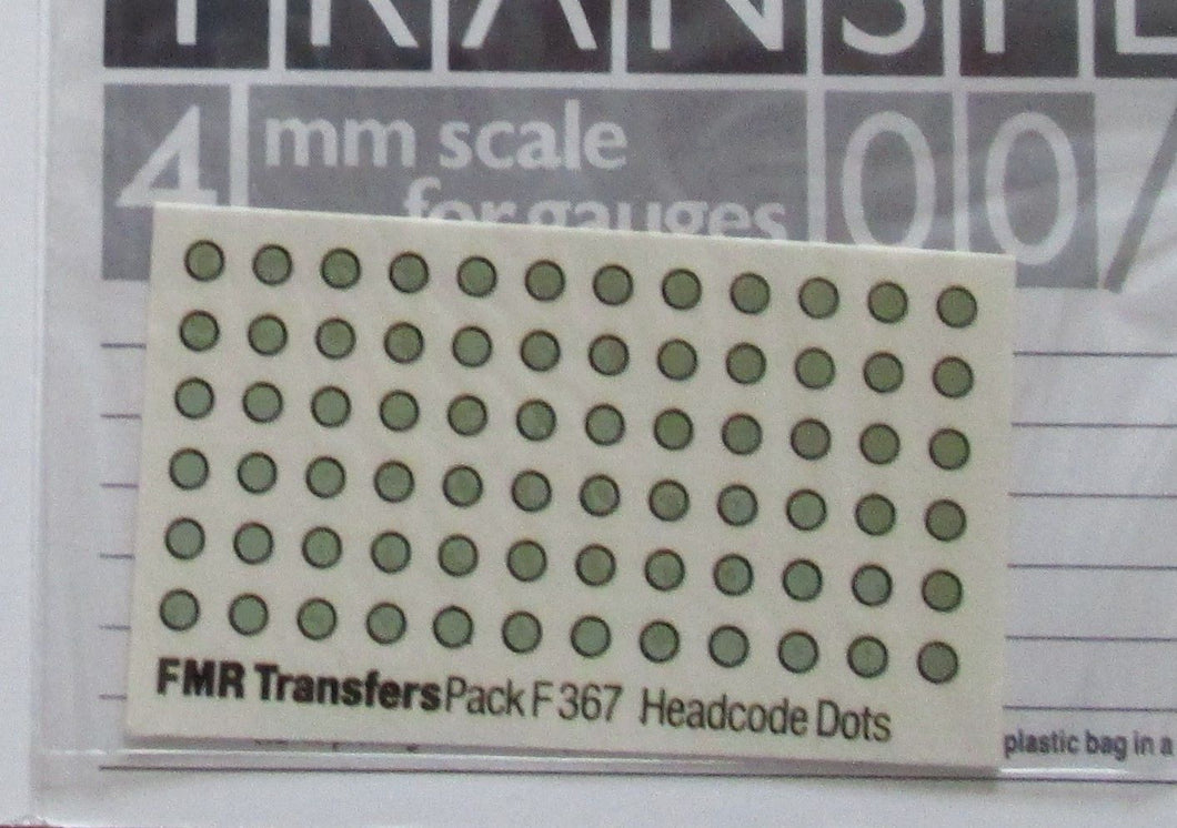F367 FMR Transfers Headcode dots