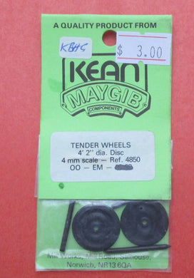 4850 4ft 2in Disc Tender Wheels with OO/EM axles