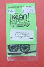 4851 4ft 3in 12 Spoke tender Wheels with OO/EM axles
