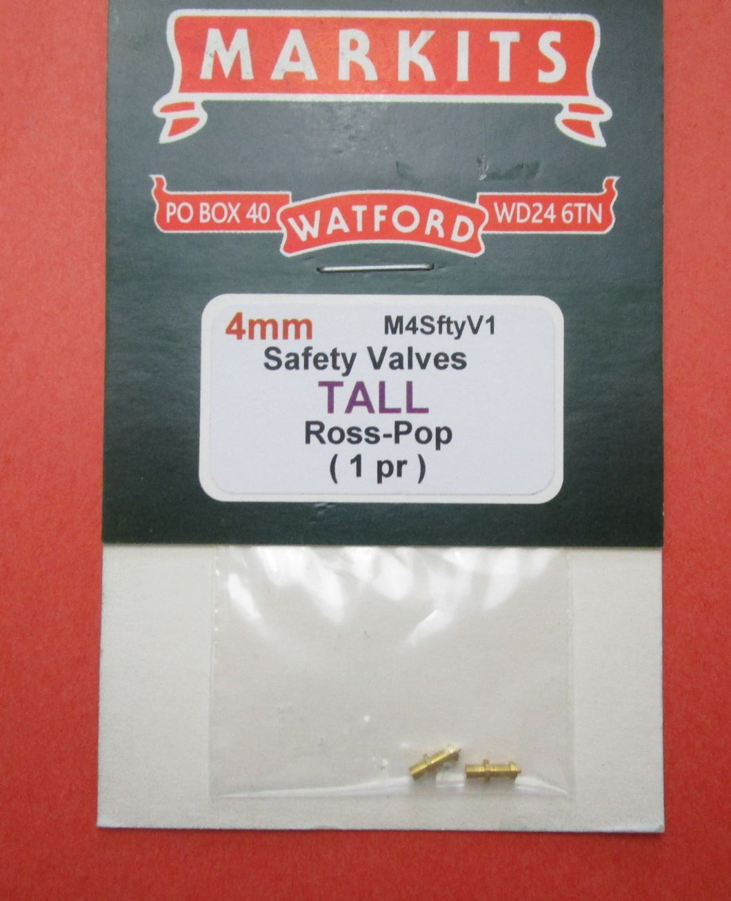 M4SftyV1 Safety Valve Ross Pop Tall (1 Pair)