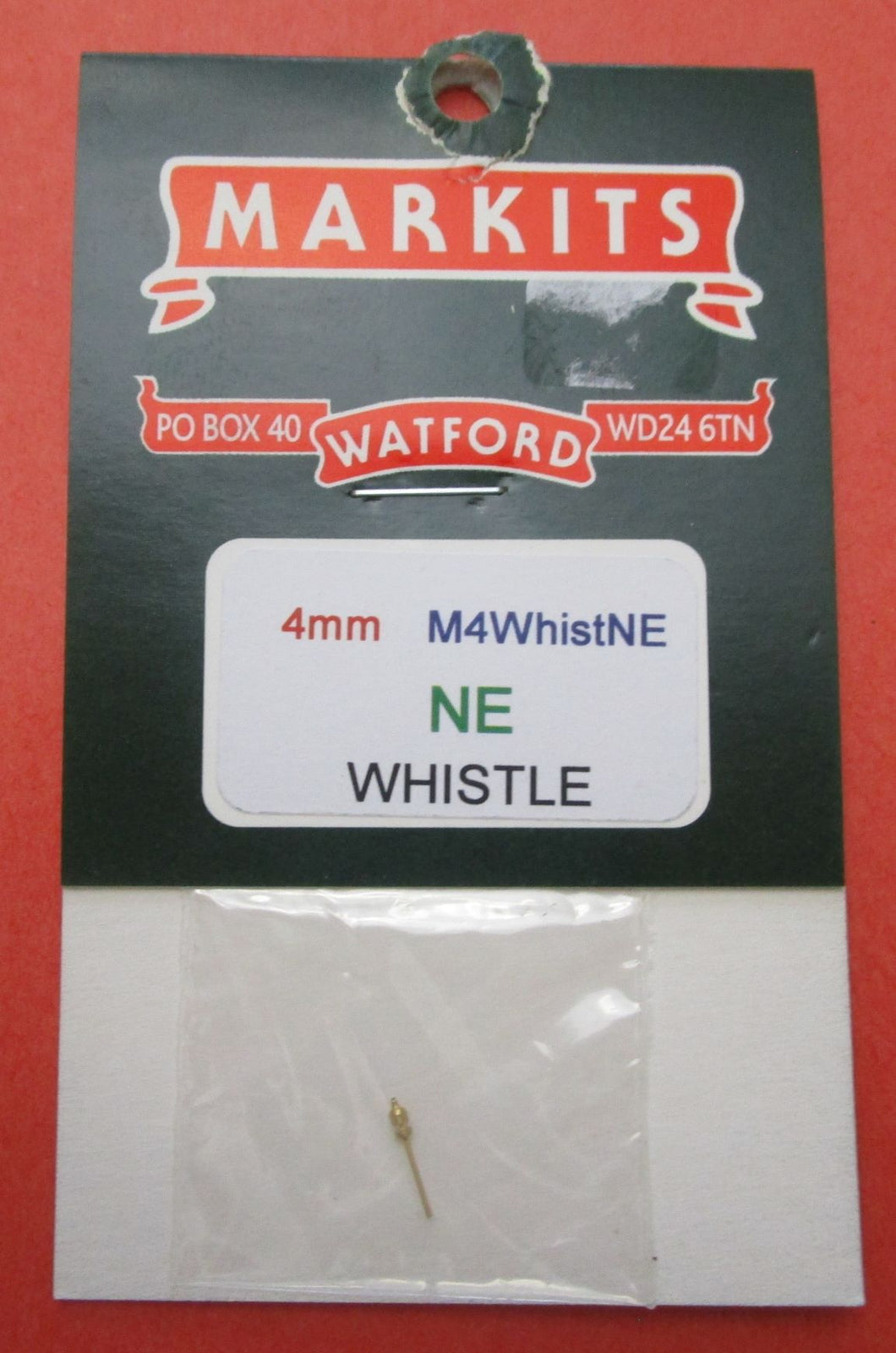 M4WhistNE 4mm NE Whistle - Turned Brass