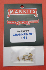 MCRNK/P6 Slotted Crankpin Set incl. Washers Pack of 6