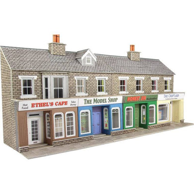 PO273 METCALFE Low Relief Stone Shop Fronts