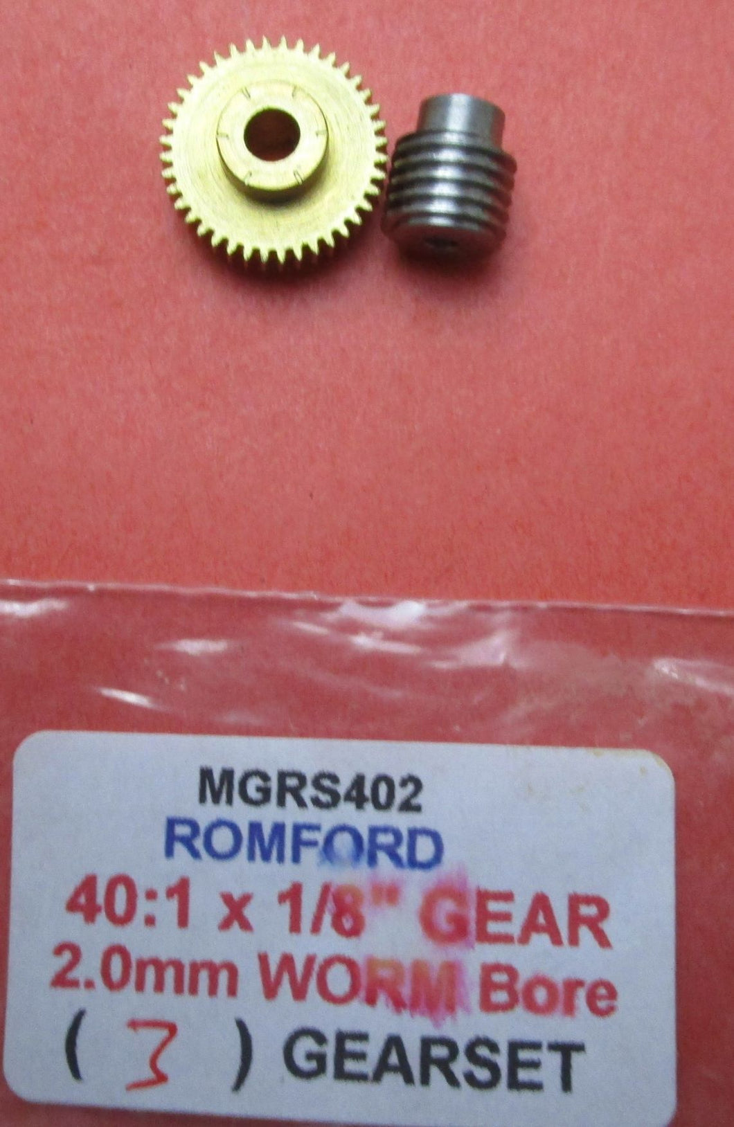 MGRS402 gearset 40:1 2.0mm Steel Worm 1/8