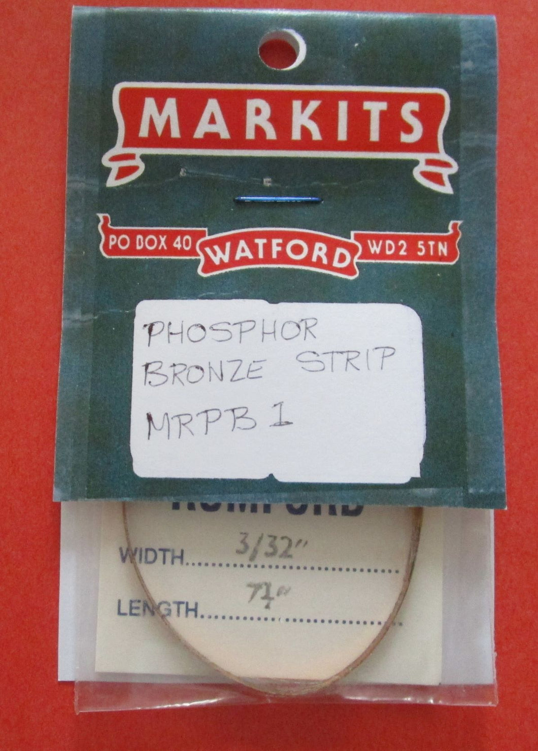 MRPB1 Phosphor Bronze Strip 3/32in x 7 1/4in