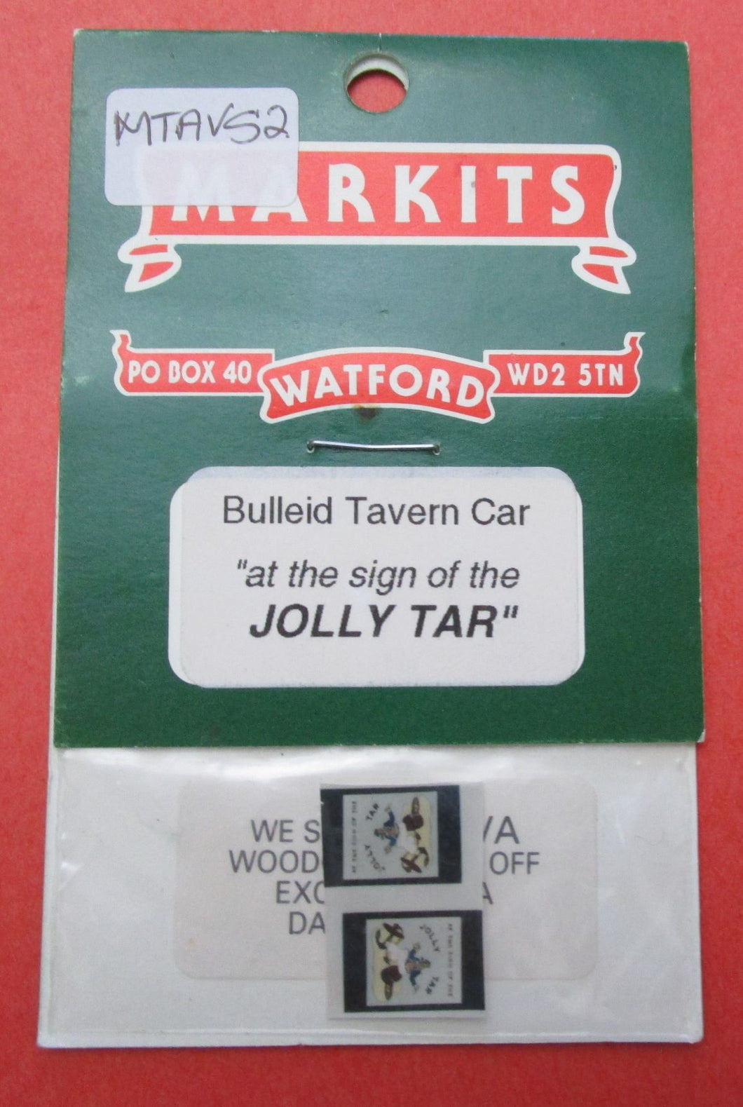 MTAVS2 Markits Bulleid Tavern Car Pub Sign 'at the sign of the Jolly Tar'