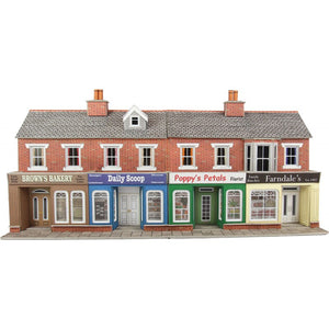 PO272 Low Relief Shop Fronts Red Brick
