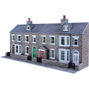PO275 Low Relief Terraced House Fronts Stone