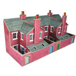 PO276 Low Relief Terraced House Backs Brick