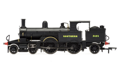 R3422 HORNBY SR 4-4-2T Adams Radial Tank, Southern Black livery, No. 3125