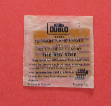 32884 Hornby Dublo Coach Destination/name boards: The Red Rose