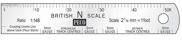 SL-320 NRULE N Scale Steel Scale Rule