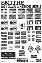 SS1 Smiths Signs GWR Lineside signs