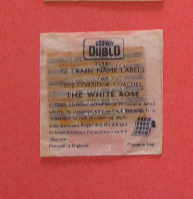 32881 Hornby Dublo Coach Destination/name boards: The White Rose