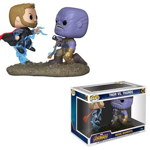 Avengers: Infinity War Thor Vs. Thanos Pop! Vinyl Figure Movie Moments