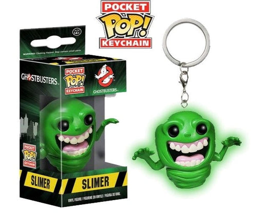 Ghostbusters - Slimer Glow US Exclusive Pocket Pop! Keychain