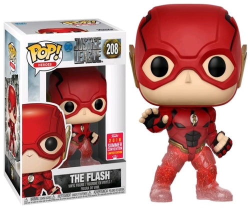 Justice League Movie - Flash Running Translucent Feet SDCC 2018 US Exclusive Pop! Vinyl
