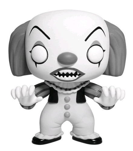 IT Pennywise Black and White US Exclusive Pop! Vinyl.