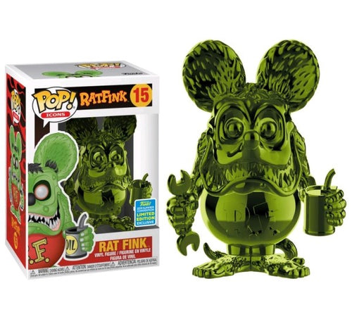 Rat Fink - Rat Fink Green Chrome SDCC 2019 US Exclusive Pop! Vinyl