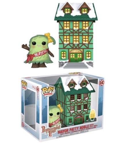 Peppermint Lane - Patty Noble with Light Up Town Hall Pop! Town