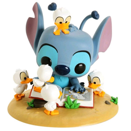 Lilo & Stitch - Stitch with Book & Ducks US Exclusive Pop! Deluxe