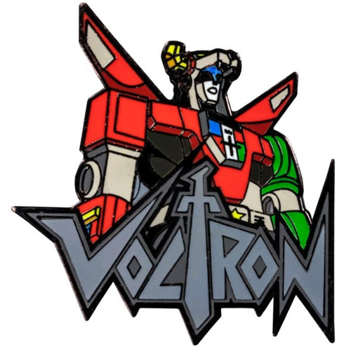 Voltron - Voltron Bust with Logo Enamel Pin
