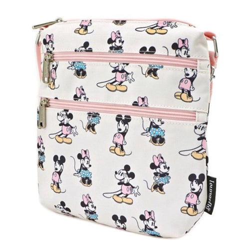Mickey Mouse - Mickey & Minnie Pastel Passport Bag