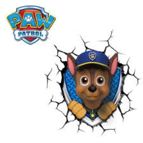 Paw Patrol Chase 3DFX Wall Night Light