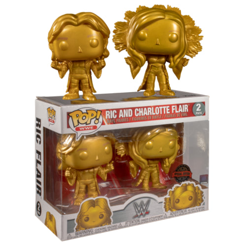 WWE - Ric and Charlotte Flair Gold US Exclusive Pop! Vinyl 2-pack