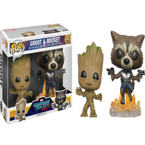 Guardians of the Galaxy: Vol. 2 - Groot & Rocket US Exclusive Pop! Vinyl 2-Pack
