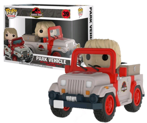 Jurassic Park Jeep with Ellie Sattler Pop! Vinyl Vehicle