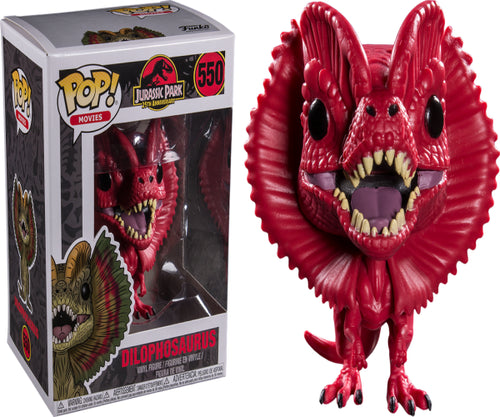 Jurassic Park - Dilophosaurus Red US Exclusive Pop! Vinyl