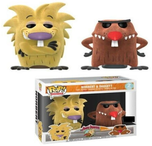 Angry Beavers - Norbert and Daggett Flocked US Exclusive Pop! Vinyl 2-pack