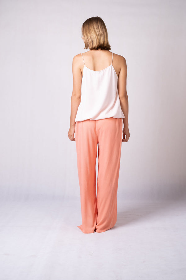 Daria Drawstring Slit Pants
