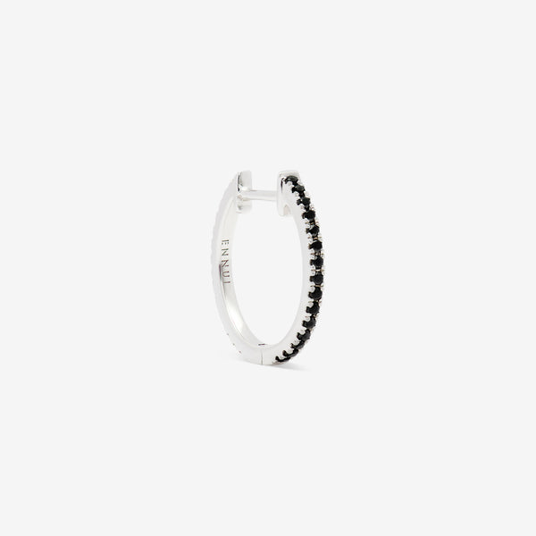 14mm hoop with balck and white diamonds set in white gold