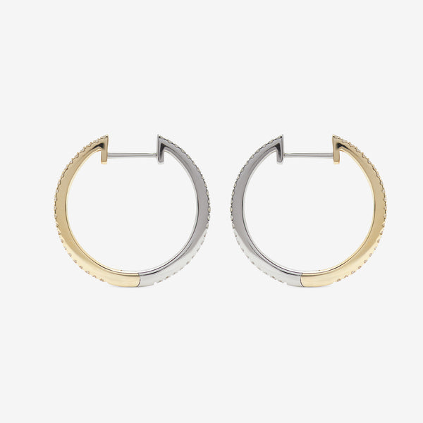 HOOPS PAIR WHITE Y/W - 20mm