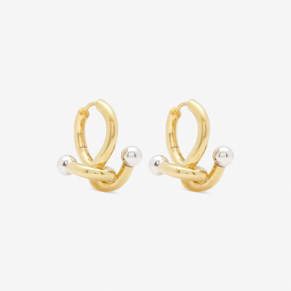 FALCATE EARRINGS GOLD