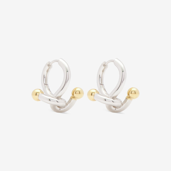 FALCATE EARRINGS SILVER