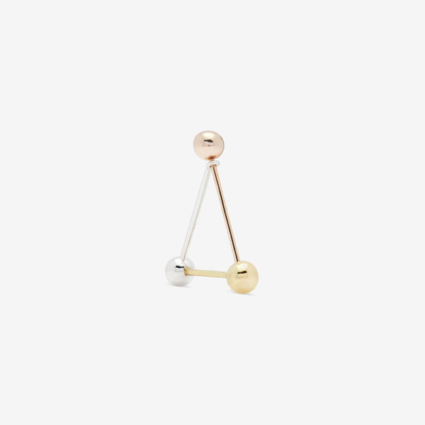 TRIANGLE EAR PIN Y/W/R