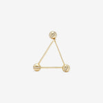 triangle ear pin in yellow gold from ENNUI Atelier