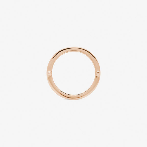 ensamble ring in rose gold backside